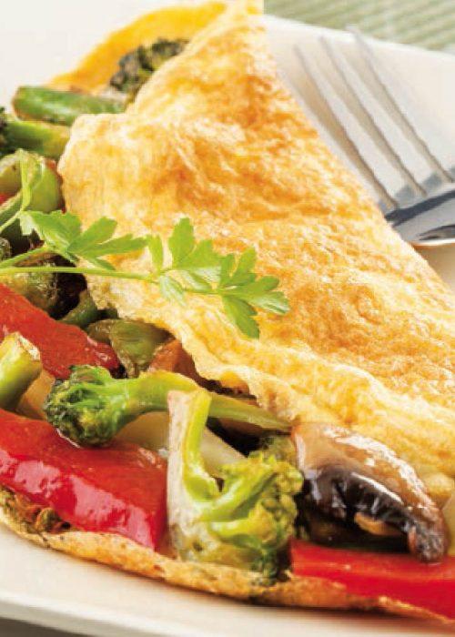 Tortilla de verdura al estilo oriental