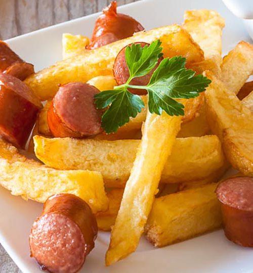 Patatas fritas crujientes y perfectas