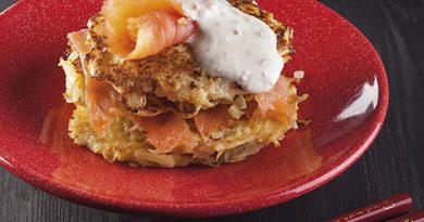 Tortitas patata salmon al teppanyaki