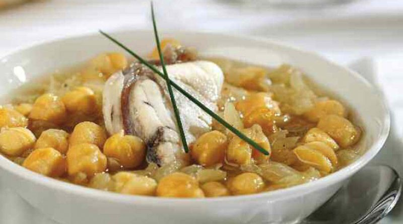 Garbanzos con rape