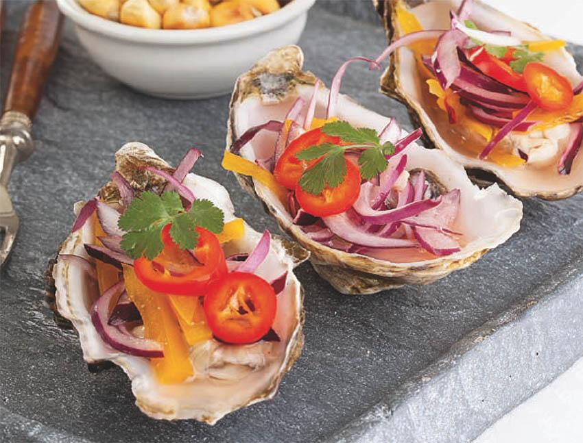 Ceviche de ostras. Receta fácil