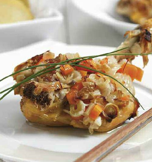 Receta de Muslos de pollo al horno con azafrán