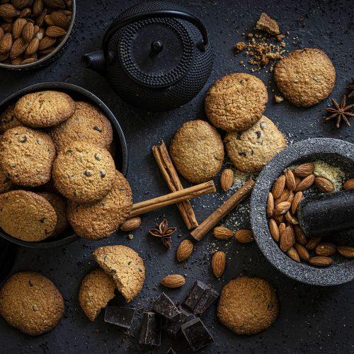 Galletas crujientes de avena y chocolate