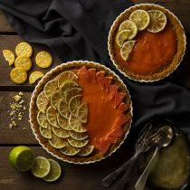 Tarta de pomelo y lima